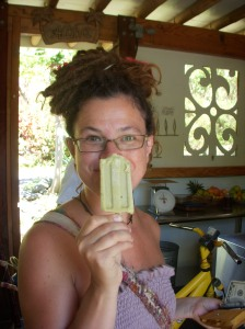 Sjanie and her raw key lime popsicle~yum