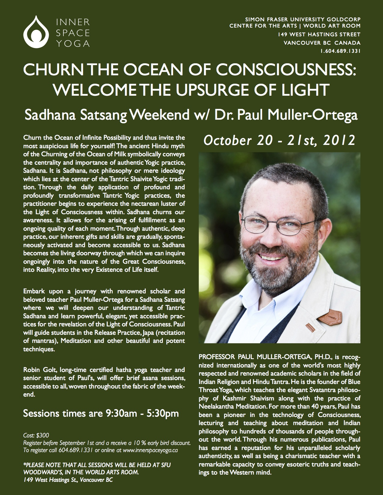 Paul Muller Ortega is coming to Vancouver!
