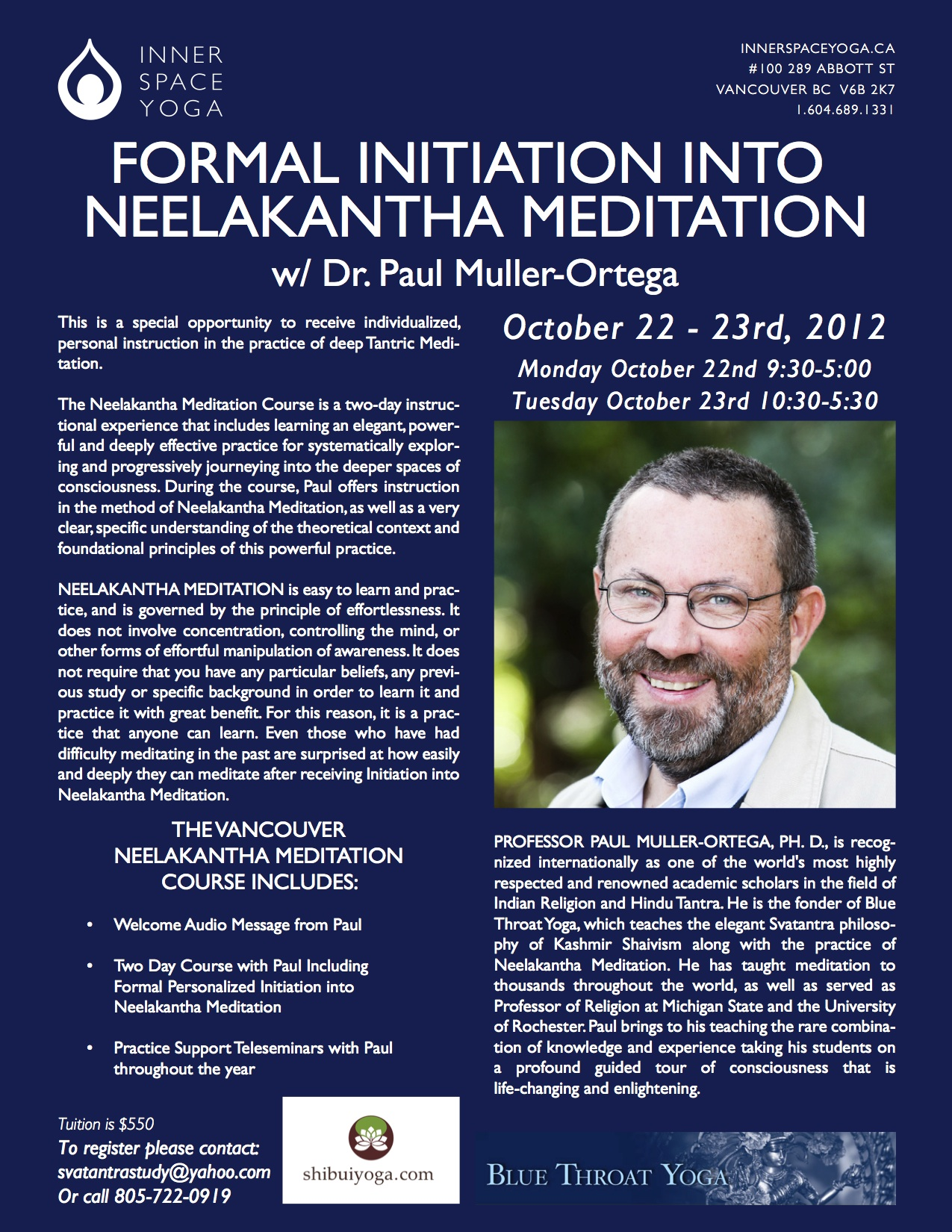 Neelankantha Meditation Initiation in Vancouver